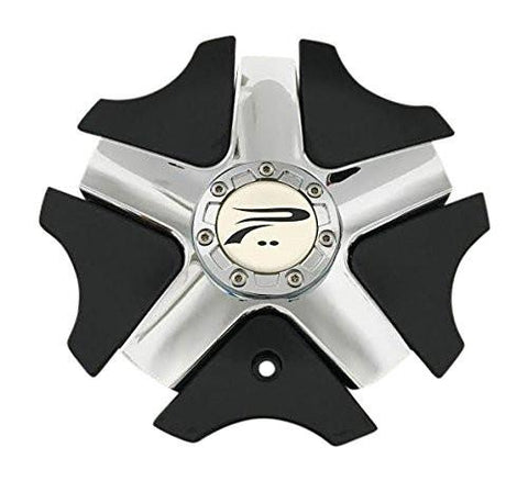 Platinum Wheels 57462090F-2 A89-9415B Chrome and Black Center Cap - The Center Cap Store