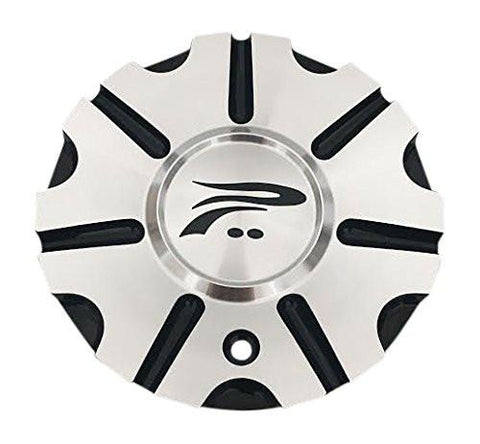 Platinum Wheels 89-9414B Machined and Black Center Cap - The Center Cap Store