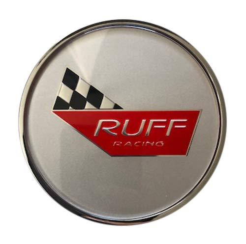 RUFF Racing Wheels Corvette 776C02+MB-207 RR954CORS Silver Center Cap - The Center Cap Store