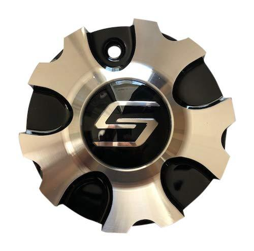 Sacchi Wheels S48 C10248B Black and Machined Center Cap - The Center Cap Store