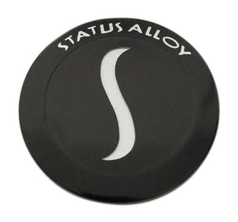 Status Alloy Wheels C713901CAP C713901B-S Black Wheel Center Cap - The Center Cap Store
