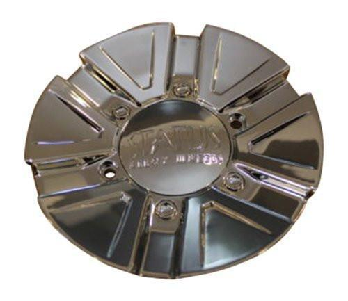 Status Trojan S823 Chrome Wheel RIm Center Cap C610402-2 S823-CAP - The Center Cap Store