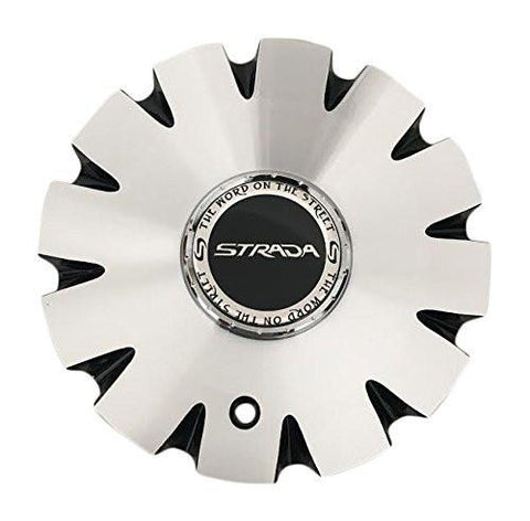 Strada Gabbia Wheels C-1093-3 Black and Machined Wheels - The Center Cap Store