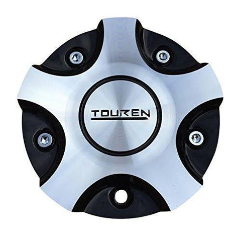 Touren MC3160N301 C103160M Black and Machined Center Cap - The Center Cap Store