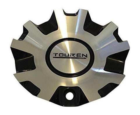 Touren TR4 3140 C103140M MC3140N301 Black and Machined Center Cap - The Center Cap Store