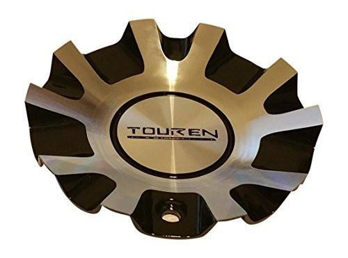 Touren Wheels C103130MF 56481880F-3 Black and Machined Center Cap - The Center Cap Store