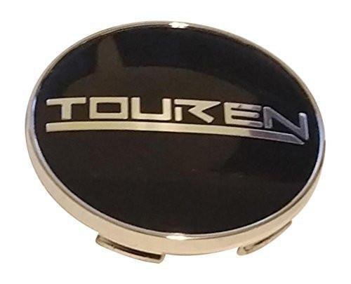 Touren Wheels C103240C 12152085F-3 Chrome and Black Center Cap - The Center Cap Store