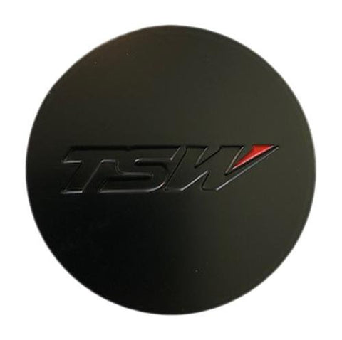 TSW Wheels SPCG18-T Matte Black Center Cap PSCG18TDBK1 5x100 5x108 5x114.3 CCPCG18-T - The Center Cap Store