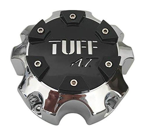 TUFF AT C611902 C803502CAP1S813 Chrome Center Cap Black Center - The Center Cap Store