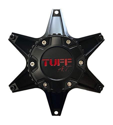TUFF at Wheels C-623801-1 Matte Black with Red Lettering - The Center Cap Store
