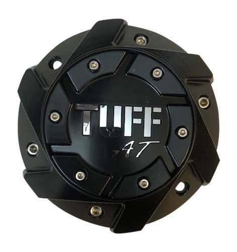 TUFF at Wheels C611901 Matte Black Wheel Chrome Letter Center Cap - The Center Cap Store