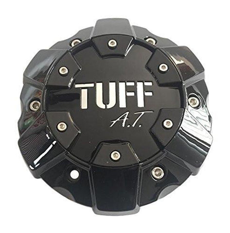 TUFF A.T. Wheels C611901B/C Gloss Black Wheel Center Cap - The Center Cap Store