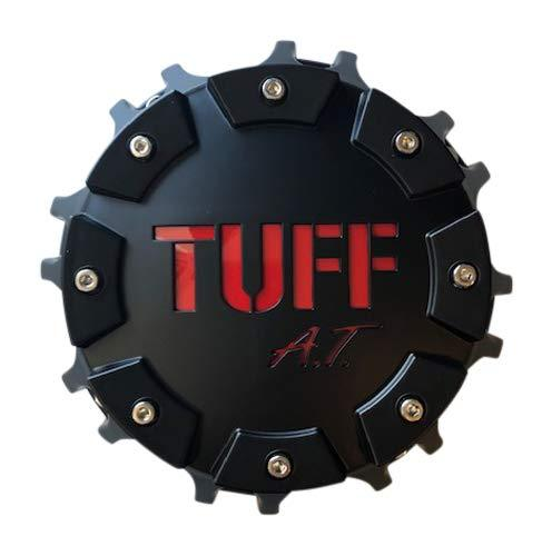 TUFF at Wheels C611904CB3 RED Matte Black and Red Center Cap - The Center Cap Store