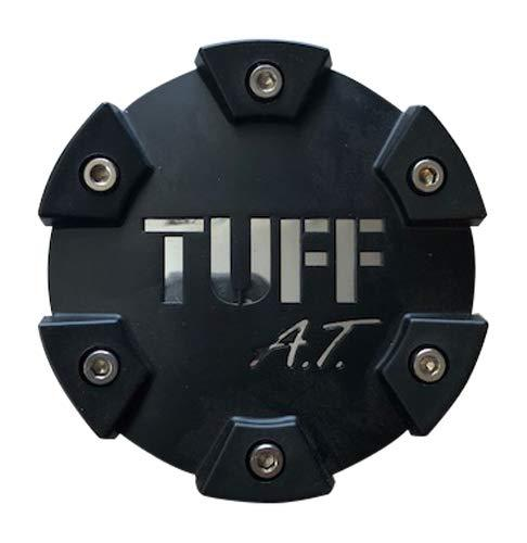 Tuff Wheels C611902 PCTSFBC Black with Chrome Logo Center Cap Small - The Center Cap Store