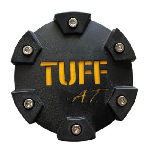 Tuff Wheels PCTSFBY Flat Black with Yellow Logo Center Cap - The Center Cap Store