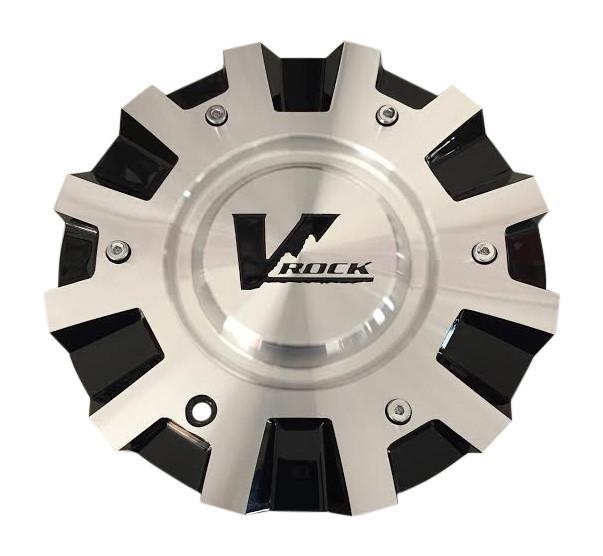 V Rock Wheels C-VR4-BM Black and Machined Center Cap - The Center Cap Store