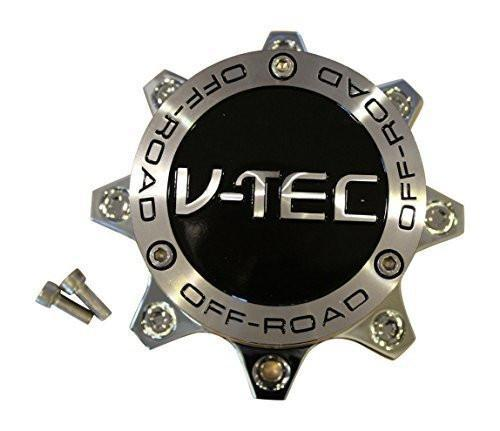 V-TEC OFF-ROAD 394 Warlord Chrome Wheel Rim 8 Lug Center Cap C394-8-CAP C394-8 - The Center Cap Store