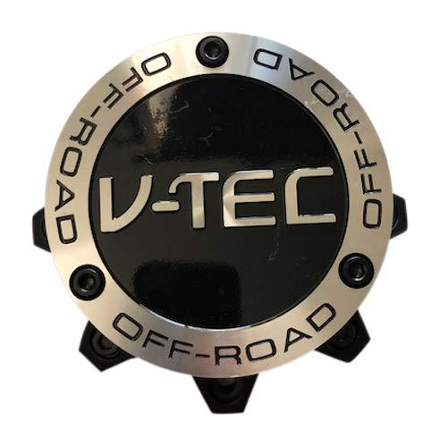 V-Tec Offroad Wheels C394-8-CAP Used Black Machined Center Cap - The Center Cap Store