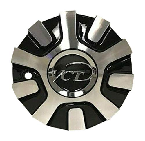 VCT Wheels V48 Black and Machined Wheel Center Cap 236-20-AL - The Center Cap Store