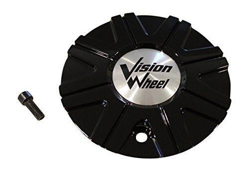 Vision Wheel 378 Kryptonite Gloss Black Wheel Rim Center Cap C378-2-CAP - The Center Cap Store