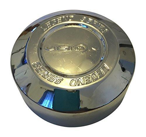 Vision Wheels Legend Series 6 Spoke 141-T-V Chrome Wheel Center Cap NEW LOGO - The Center Cap Store