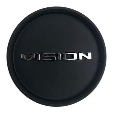Vision Wheels Shadow C388SB-55ECV Satin Black Snap in Center Cap - The Center Cap Store
