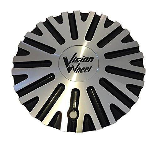 Vision Wheels Xtacy C456GBMF-CAP Black and Machined Center Cap - The Center Cap Store