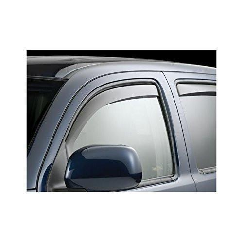 WeatherTech Custom Fit Front Side Window Deflectors for Toyota Tacoma Access Cab, Dark Smoke - The Center Cap Store