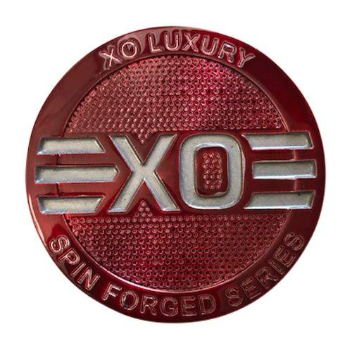 XO Luxury Wheels BT/RED Red Snap in Center Cap - The Center Cap Store