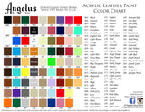 Angelus Leather Acrylic Paint - Starter pack of 12 colors