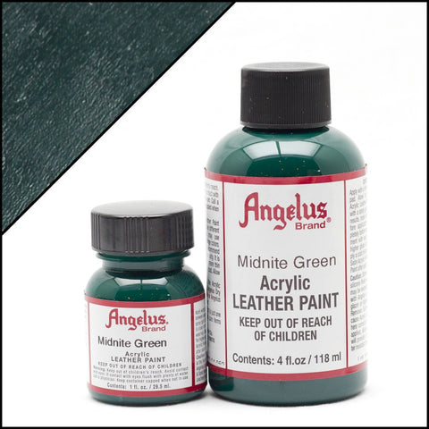 Angelus Leather Acrylic Paint - Midnight Green