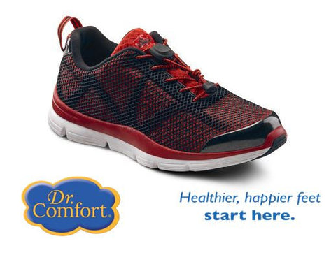 Red Men's Running - light weight athletic shoes