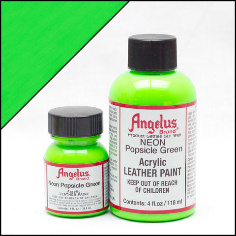 Neon   Angelus Leather Acrylic Paint -  Popsicle Green