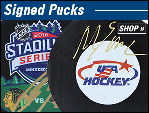 Autographed Hockey Pucks