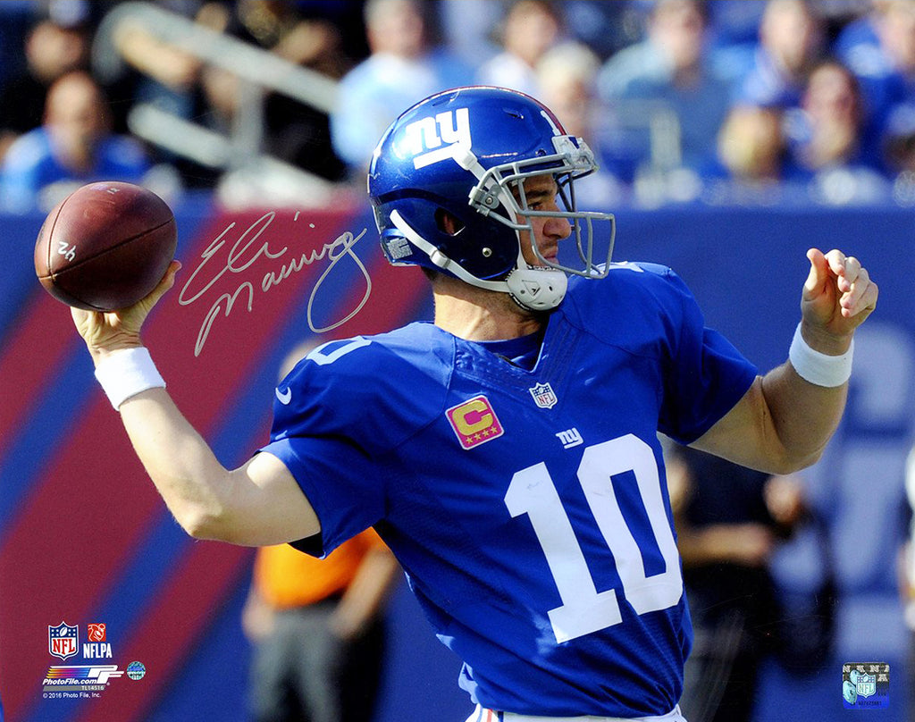 "Eli Manning Signed 8"" x 10"" Photo from 100th Career Win"