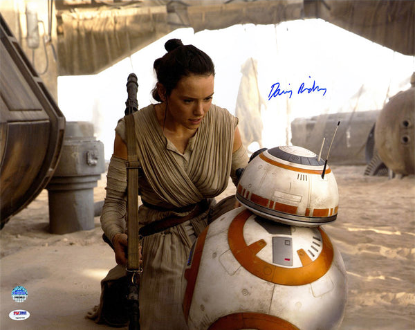 "Daisy Ridley Signed ""Star Wars: The Force Awakens"" Photo"