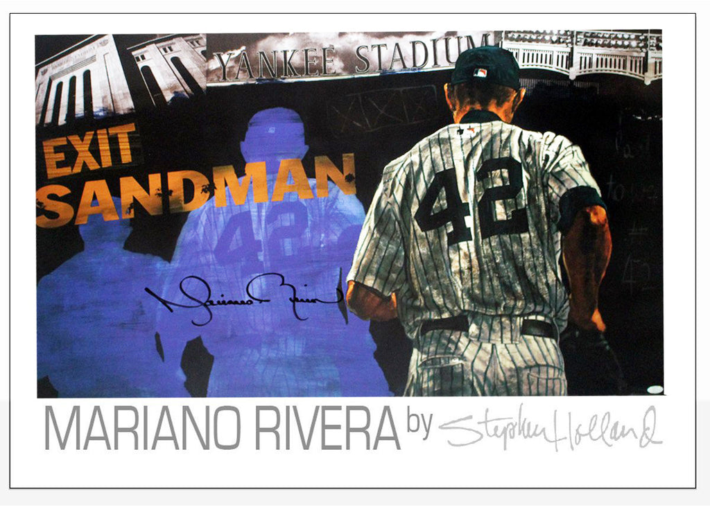 "Mariano Rivera Signed ""Exit Sandman"" Poster, Created by Stephen Holland"