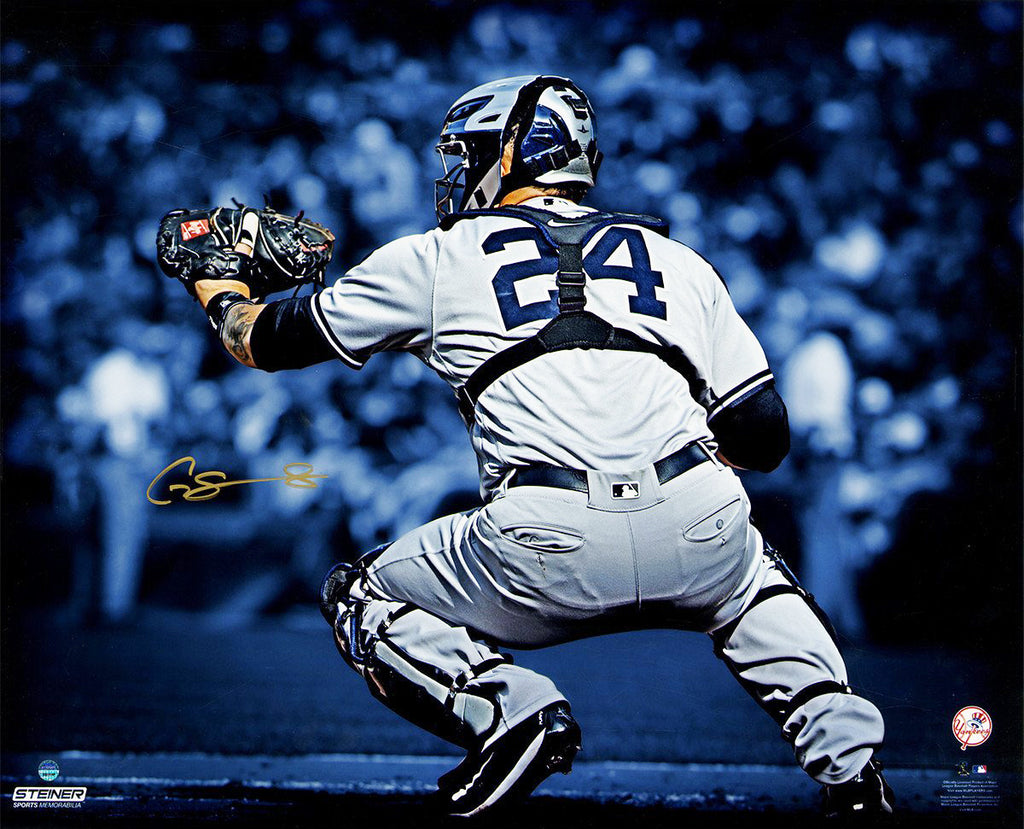 Gary Sanchez Signed 16x20 Metallic Photo