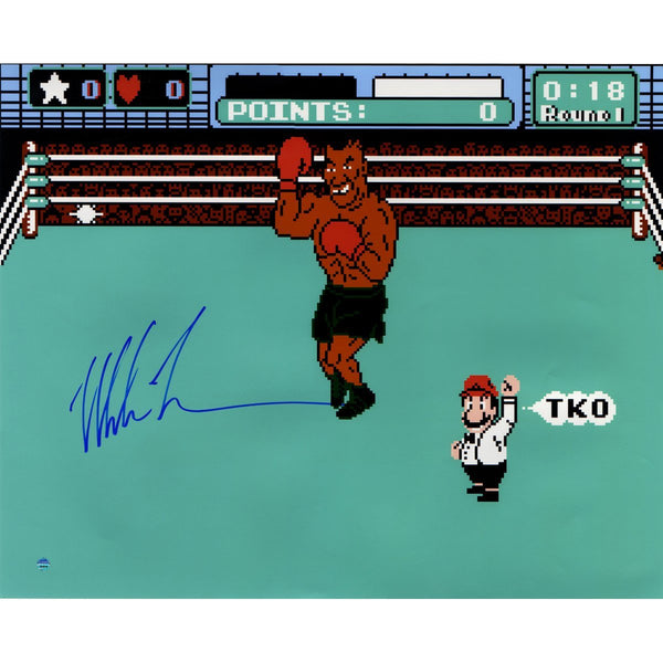 "Mike Tyson ""Mike Tyson's Punch-Out!!"" Signed 16"" x 20"" Metallic Photo"