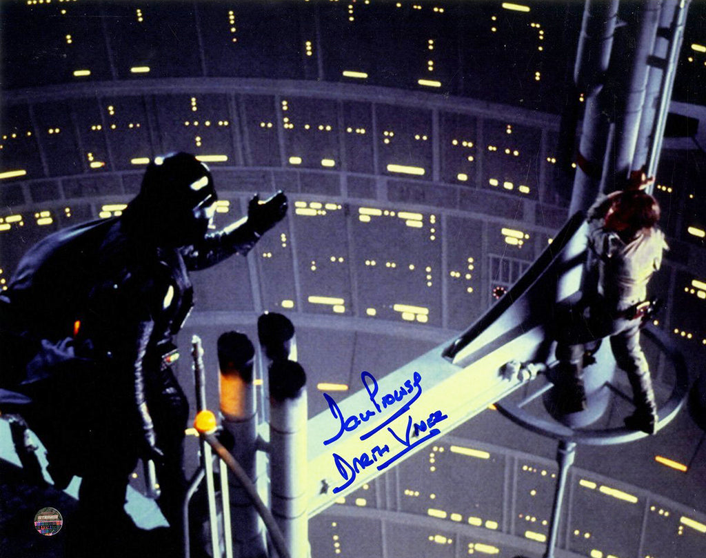 "Dave Prowse Signed ""Luke I Am Your Father"" Scene with Darth Vader and Luke Skywalker 8x10 Photo"