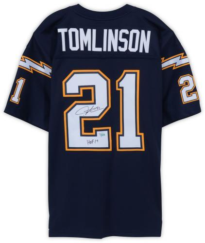 promo code cfd57 e1b90 LaDainian Tomlinson San Diego Chargers Autographed Navy Mitchell & Ness  Replica Jersey with