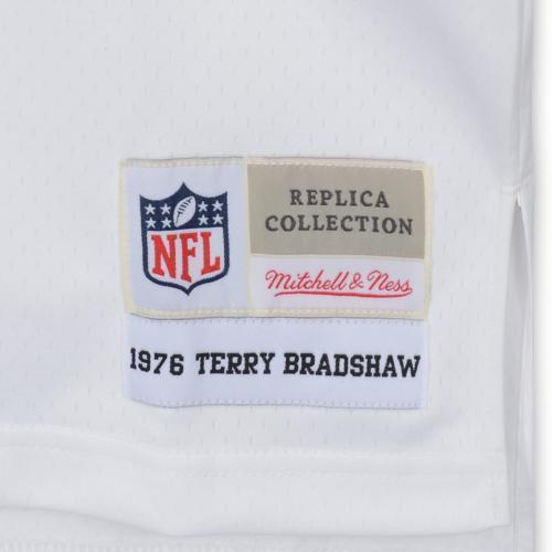 149efa2f5 Framed Terry Bradshaw Pittsburgh Steelers Autographed White Mitchell ...