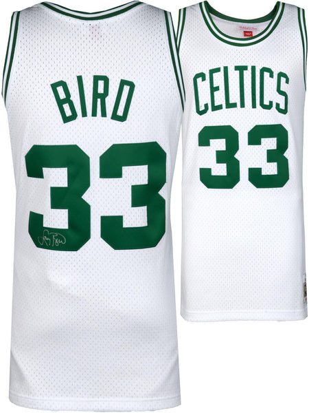 huge discount 7474c dd4af Larry Bird Boston Celtics Autographed White Mitchell & Ness Swingman Jersey