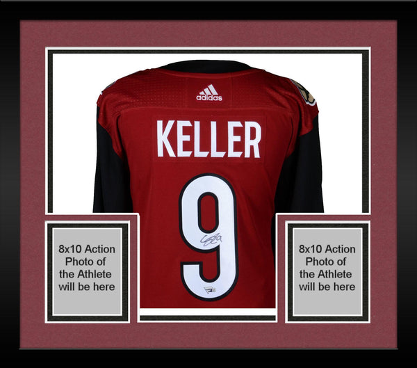 ec9d0747110ba Framed Clayton Keller Arizona Coyotes Autographed Red Adidas Authentic  Jersey