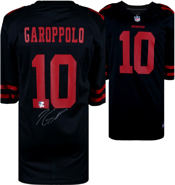 various colors 63813 fb784 Jimmy Garoppolo San Francisco 49ers Autographed Black Nike Game Jersey