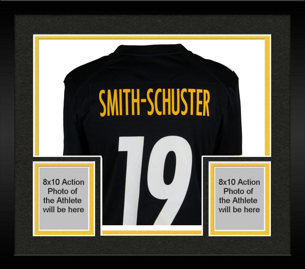 the best attitude 3d729 30b40 Framed JuJu Smith-Schuster Pittsburgh Steelers Autographed Black Nike Game  Jersey