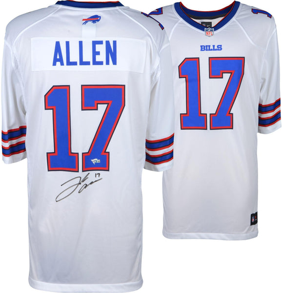 purchase cheap 4aafb 43afd Josh Allen Buffalo Bills Autographed White Nike Game Jersey