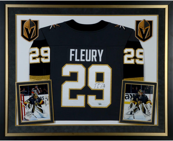 huge discount 78a5c f2c85 Marc-Andre Fleury Vegas Golden Knights Deluxe Framed Autographed Black  Fanatics Breakaway Jersey