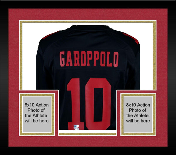 big sale 1edcd 3cdc8 Framed Jimmy Garoppolo San Francisco 49ers Autographed Black Nike Game  Jersey