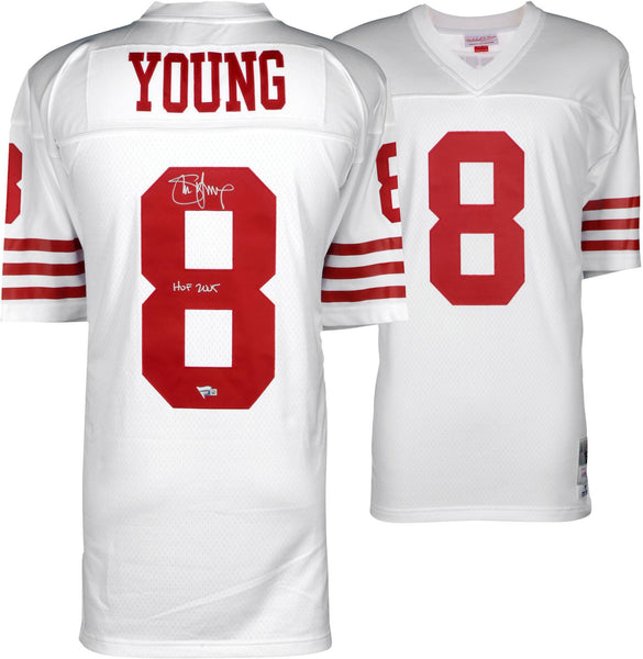 sports shoes 12682 864e4 Steve Young San Francisco 49ers Autographed White Replica Mitchell & Ness  Jersey with